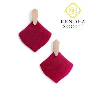 Kendra Scott Maroon Jade Astoria Earring
